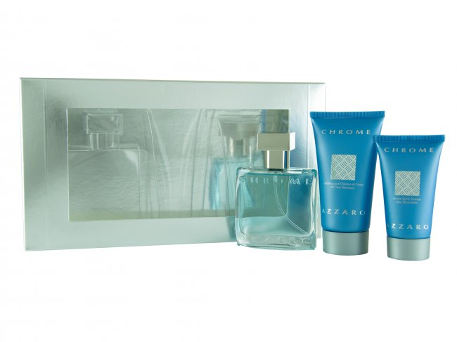 Azzaro Chrome PRESENTASK EdT 30ml + Shower gel 50ml + After Shave Balm 30ml