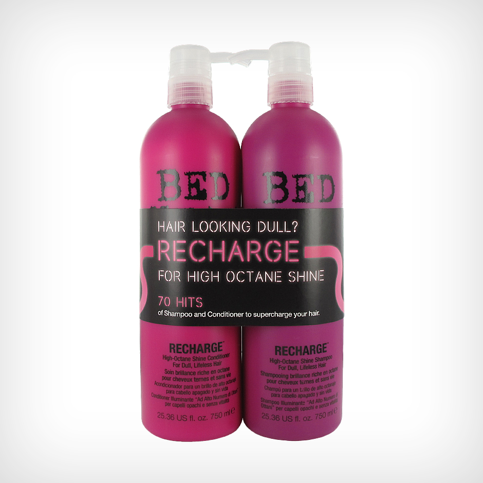 TIGI Bed Head - Recharge Tweens High Octane Shine Shampoo 750ml, High Octane Shine Conditioner 750ml