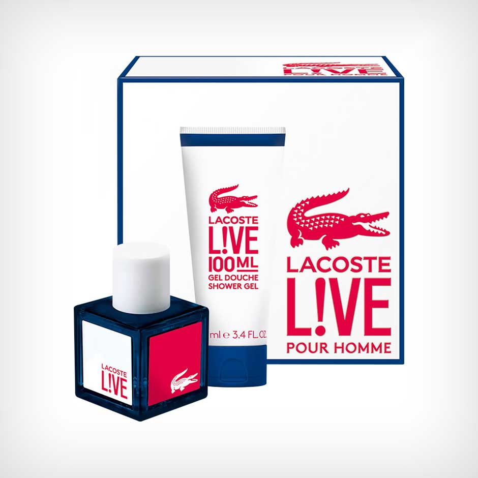 Lacoste - Live Giftset EdT 100ml, Shower Gel 100ml