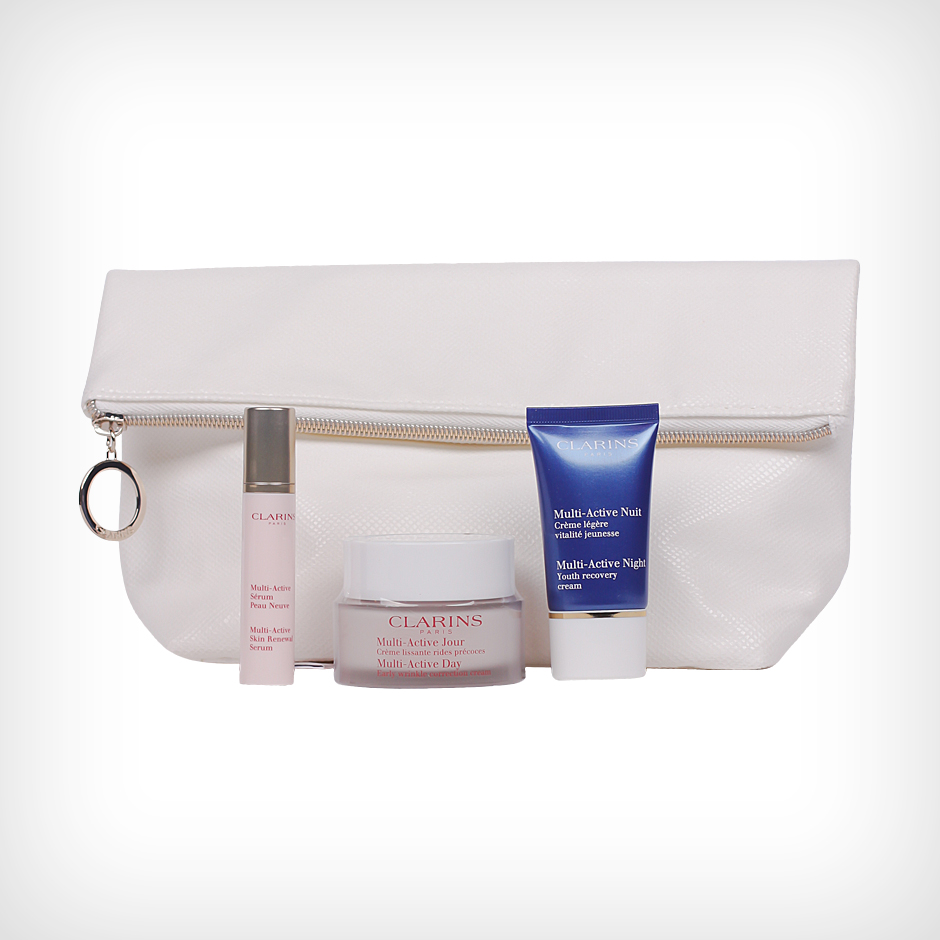 Clarins - Multi-Active 3 Pieces Kit. All Skin Types.