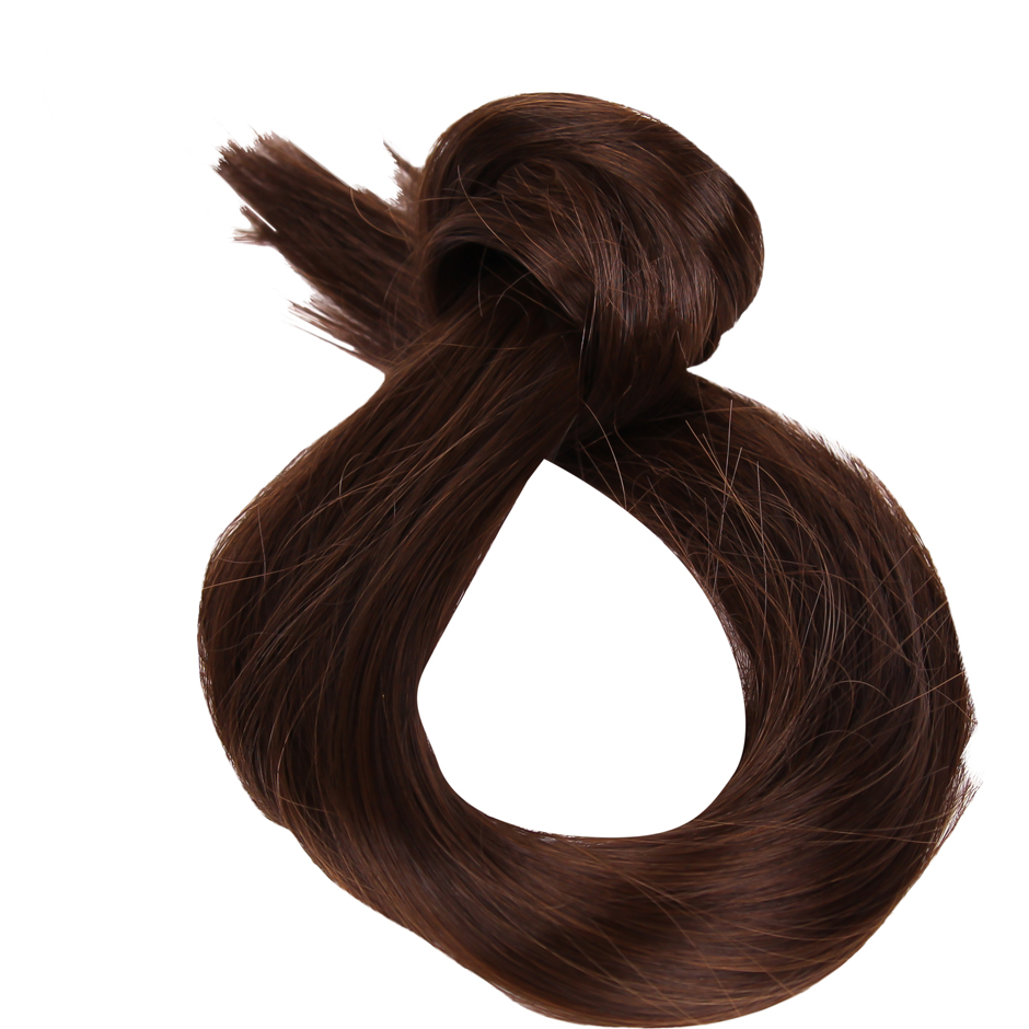 Rapunzel of Sweden - Clip-On Ponytail #2/4 Dark Brown 40cm