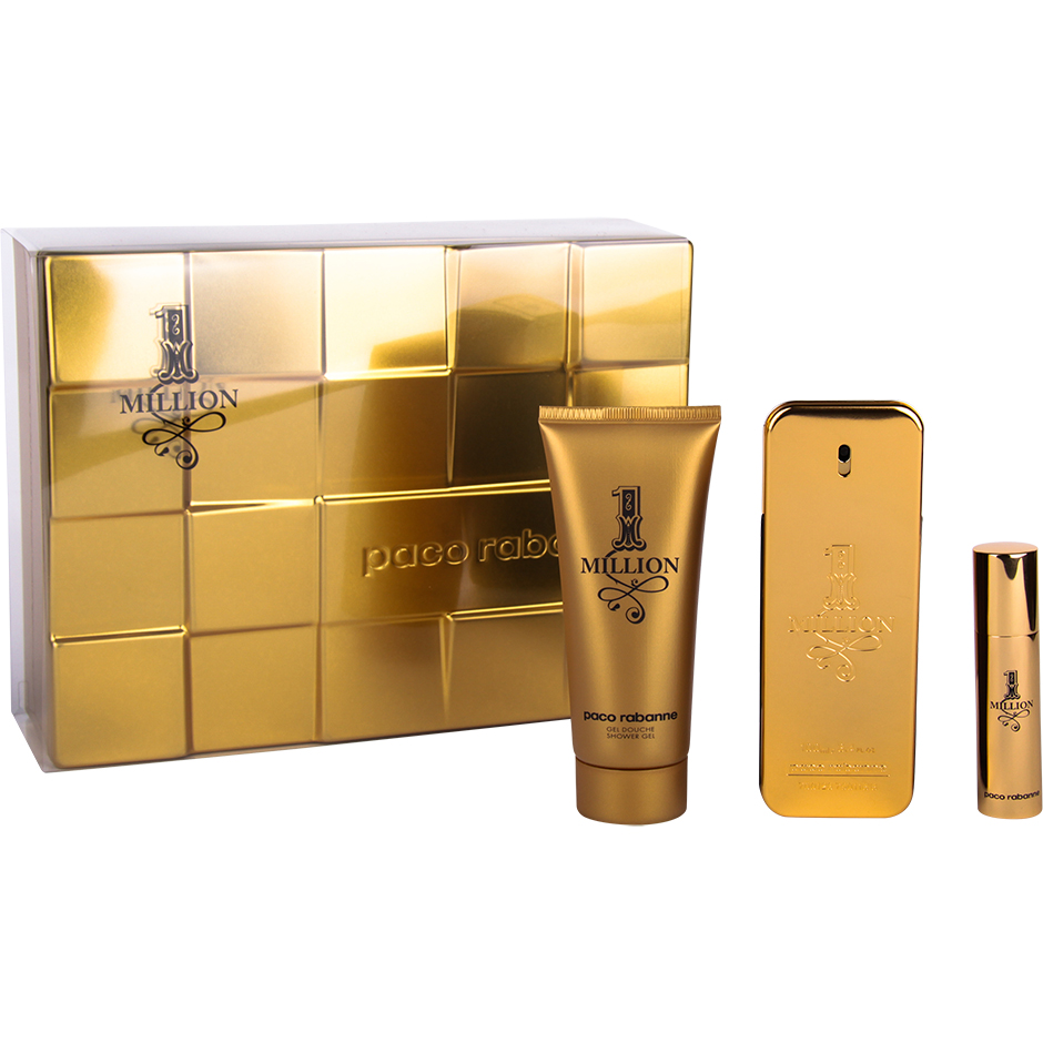 Paco Rabanne - 1 Million EdT 100ml, Shower Gel 100ml, EdT 10ml
