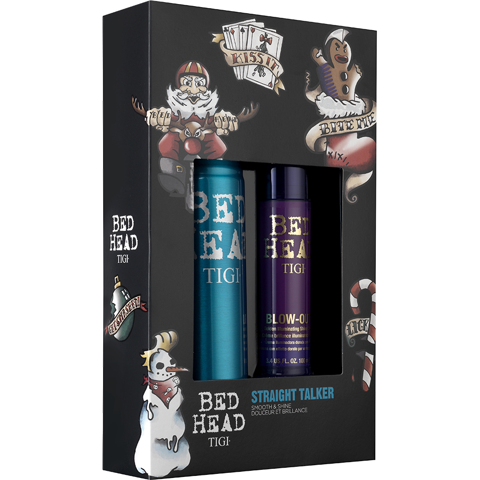 TIGI Bed Head - Straight Talker Set Hairspray 340ml, Shine Cream 100ml