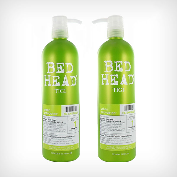 TIGI Bed Head - Urban Re-Energize 1 Duo Shampoo 750ml, Conditioner 750ml