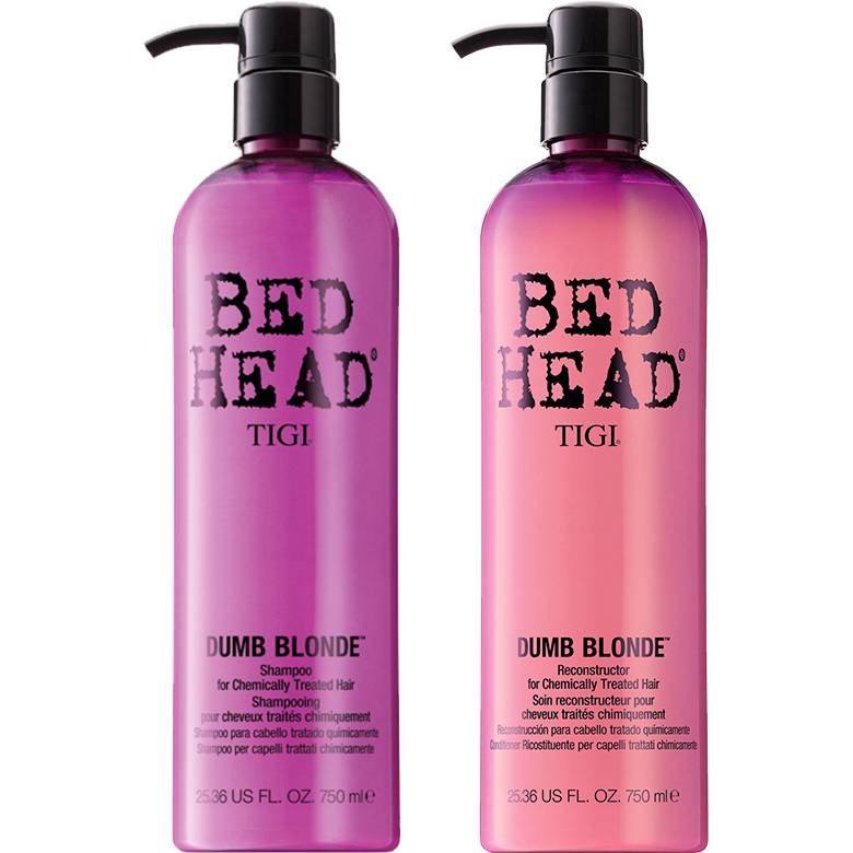 TIGI Bed Head - Dumb Blonde Duo Shampoo 750ml, Conditioner 750ml