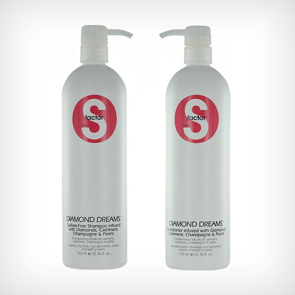 TIGI S-Factor - Diamond Dreams Duo Shampoo 750ml, Conditioner 750ml