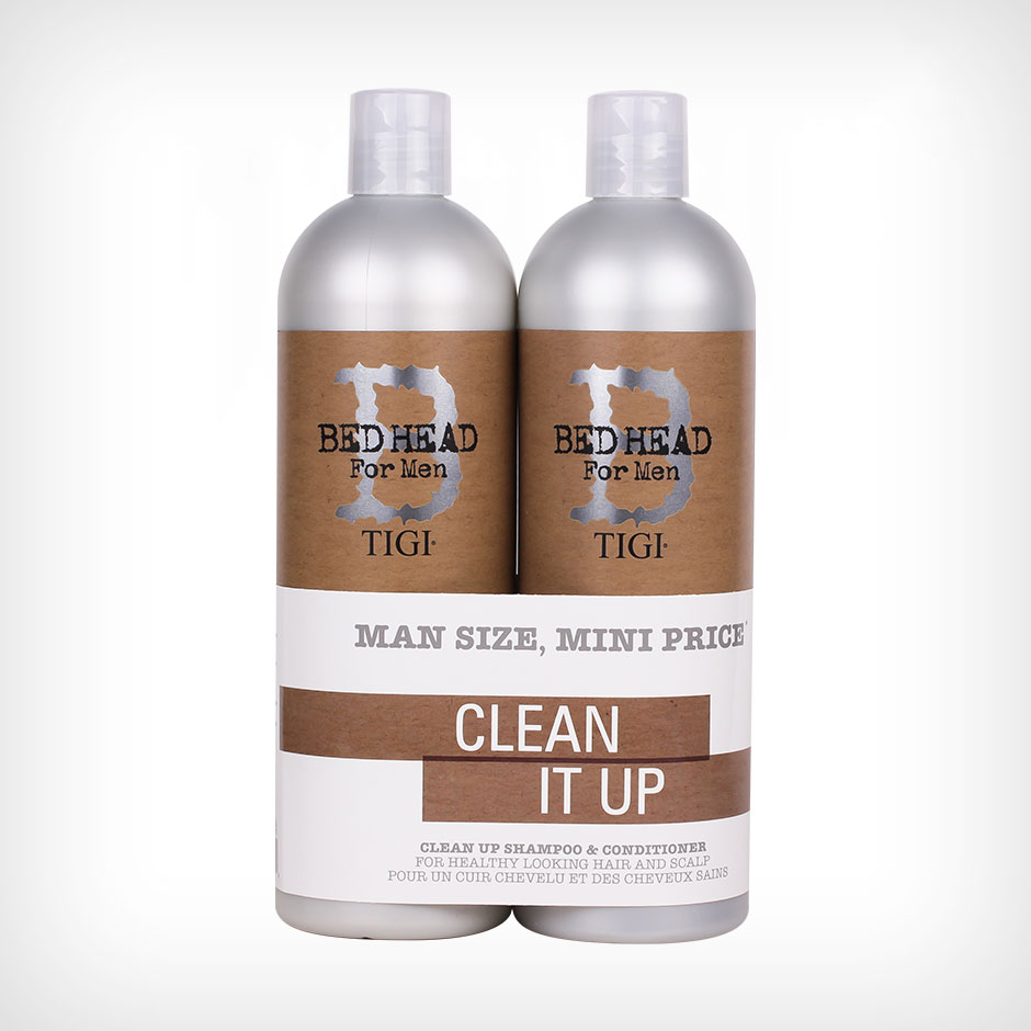 TIGI Bed Head - B for Men Clean Up Tweens Duo Schampo 750ml, Balsam 750ml